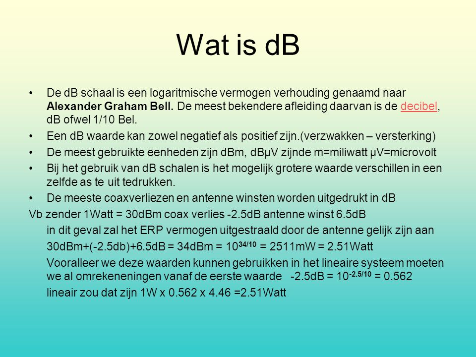 Wat is dB