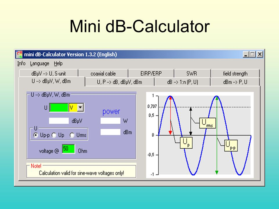 Mini dB-Calculator