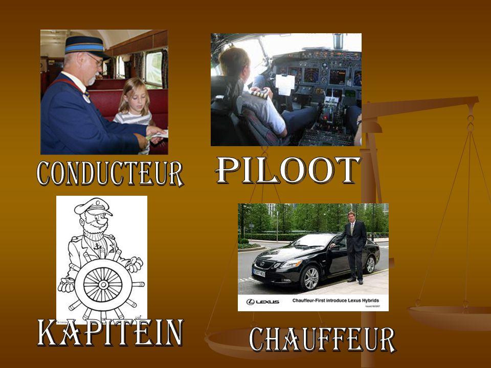 piloot Conducteur kapitein chauffeur