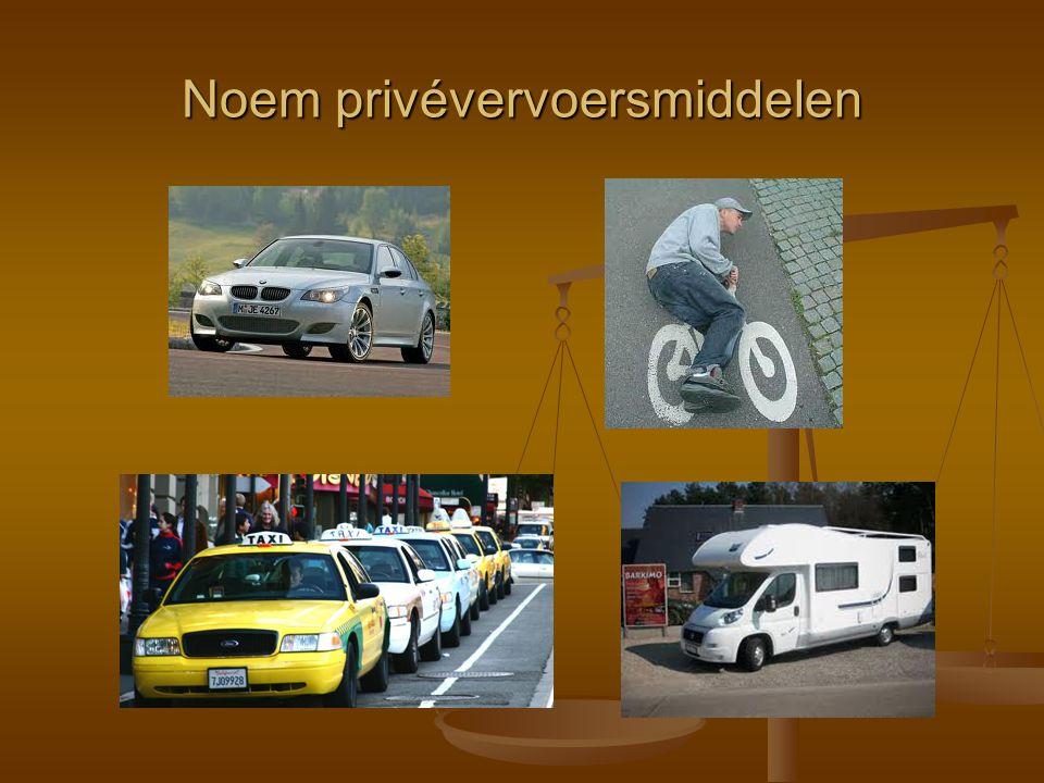 Noem privévervoersmiddelen
