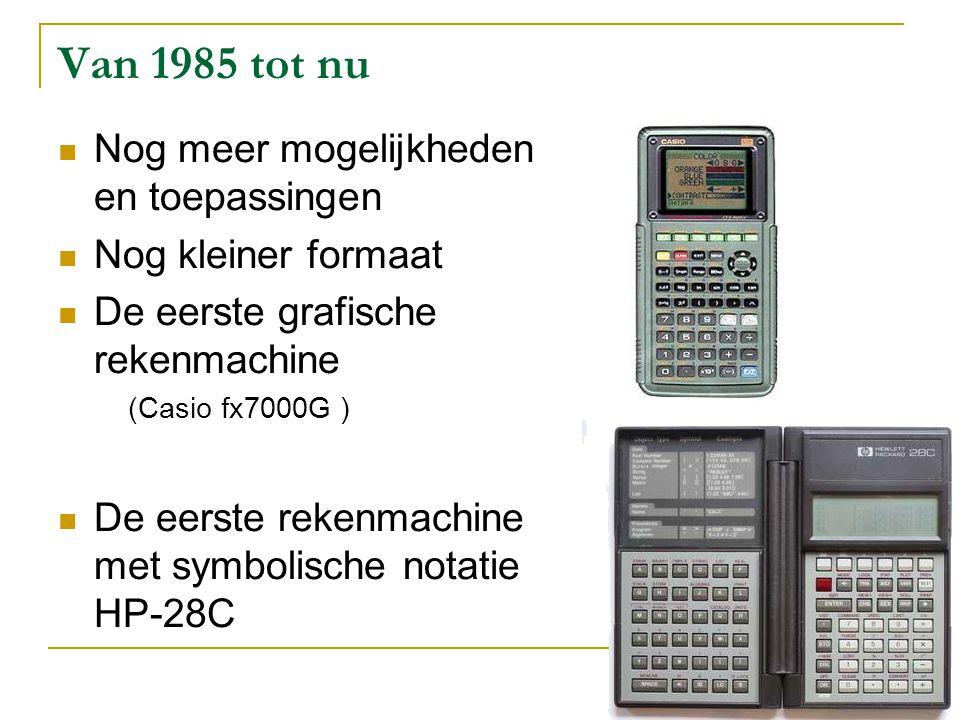 Van 1985 tot nu Nog meer mogelijkheden en toepassingen