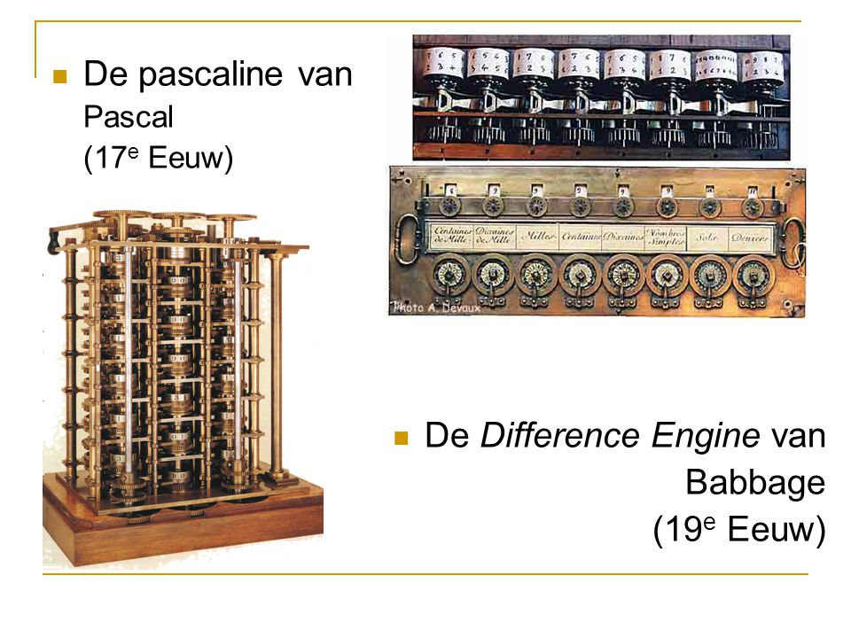 De Difference Engine van Babbage (19e Eeuw)