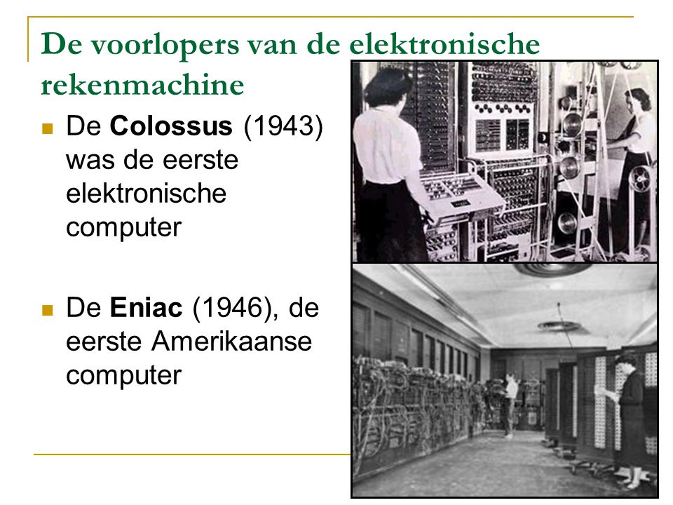 De voorlopers van de elektronische rekenmachine