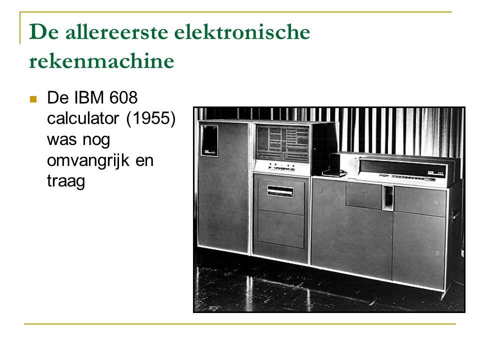 De allereerste elektronische rekenmachine