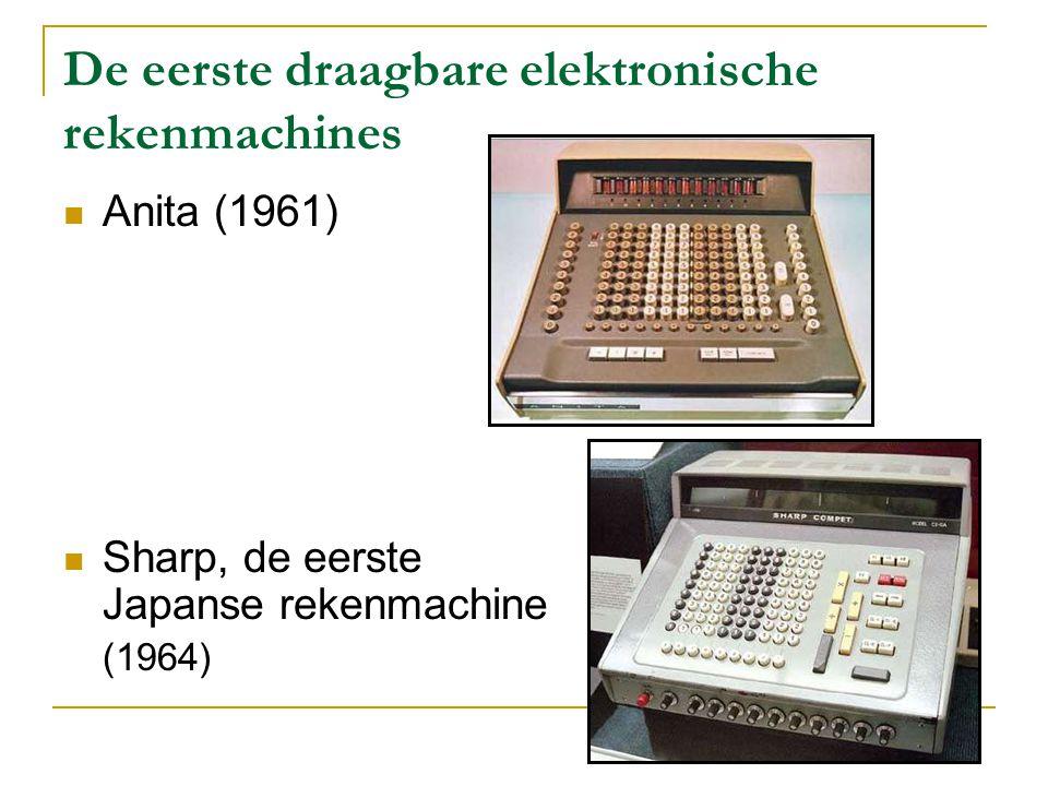 De eerste draagbare elektronische rekenmachines