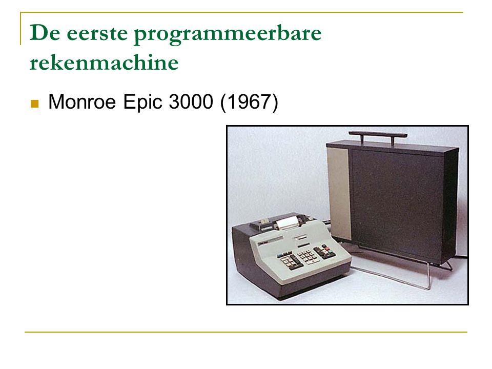 De eerste programmeerbare rekenmachine