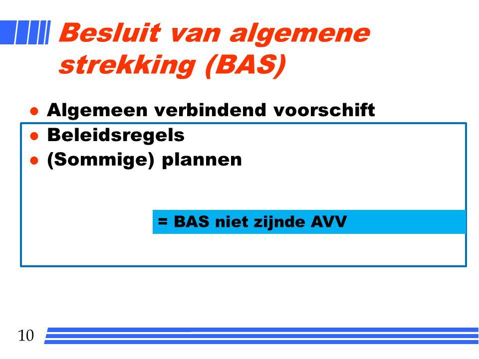 Besluit van algemene strekking (BAS)