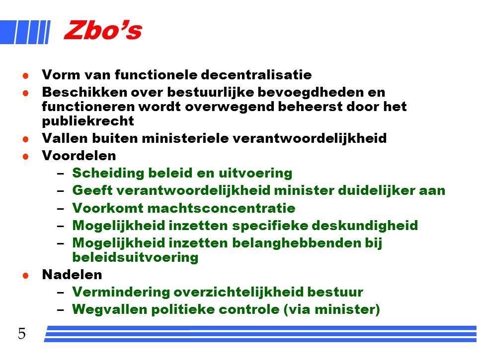 Zbo's Vorm van functionele decentralisatie