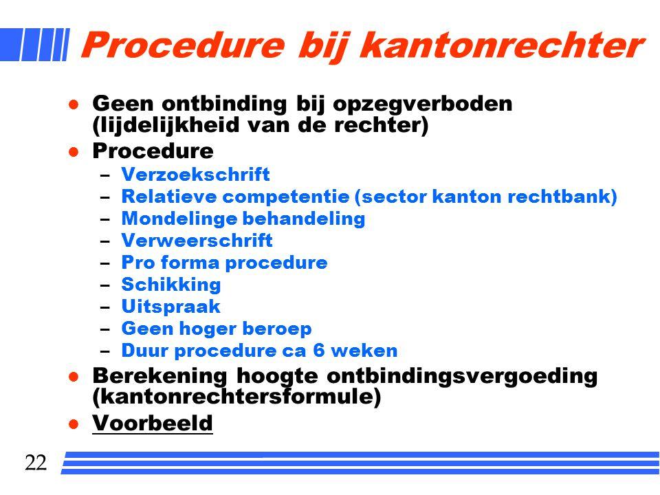 Procedure bij kantonrechter