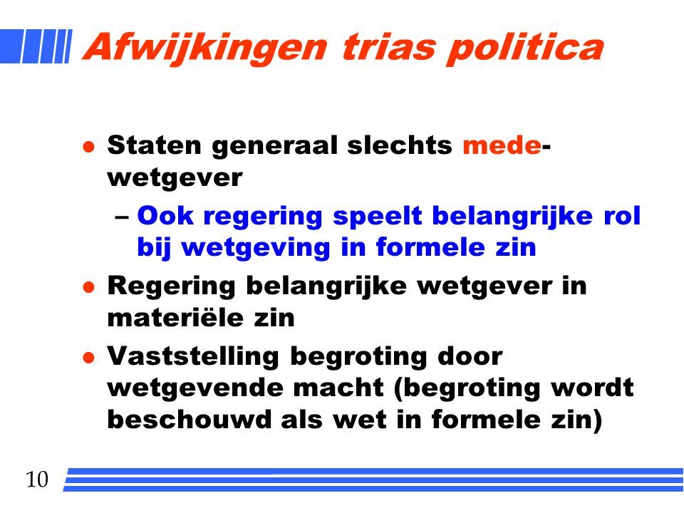 Afwijkingen trias politica