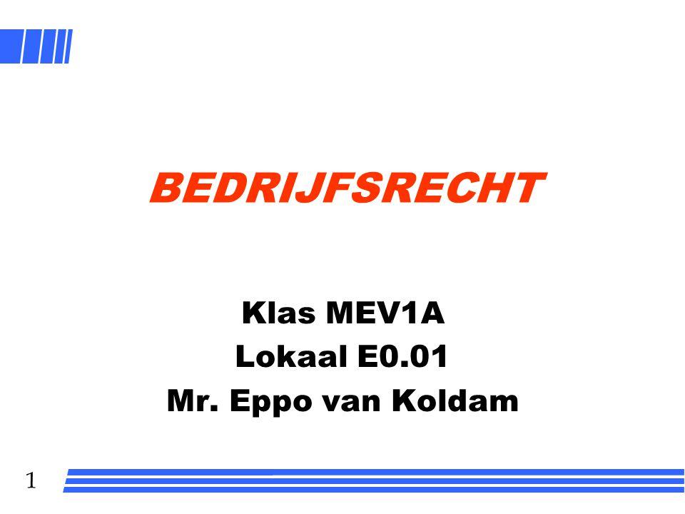 Klas MEV1A Lokaal E0.01 Mr. Eppo van Koldam