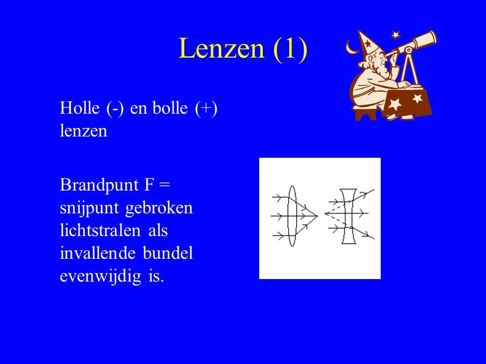 Lenzen (1) Holle (-) en bolle (+) lenzen