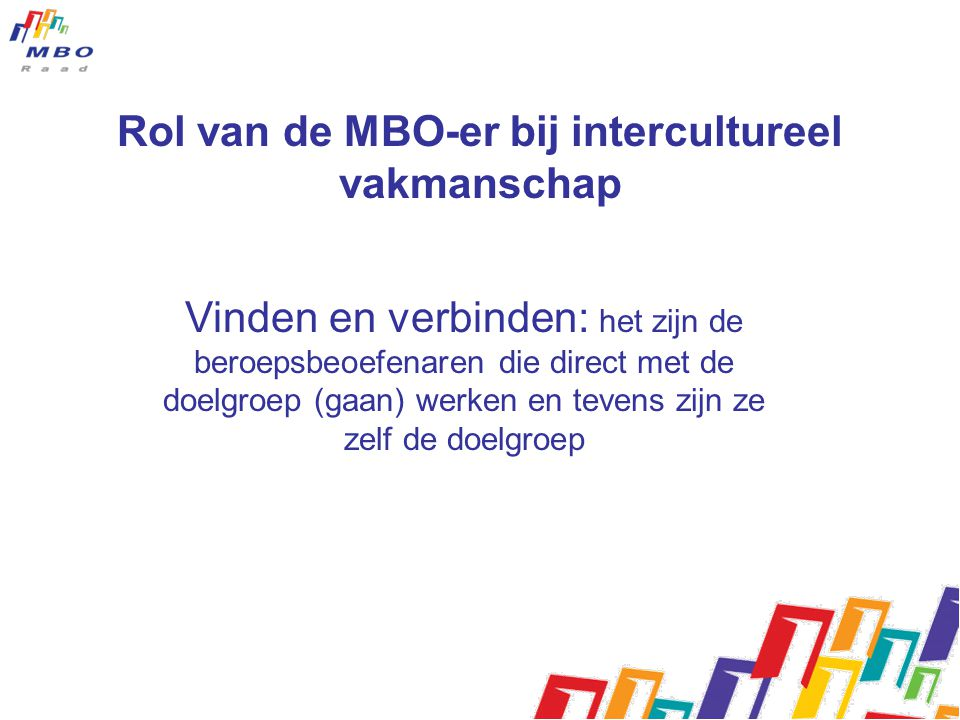 Rol van de MBO-er bij intercultureel vakmanschap