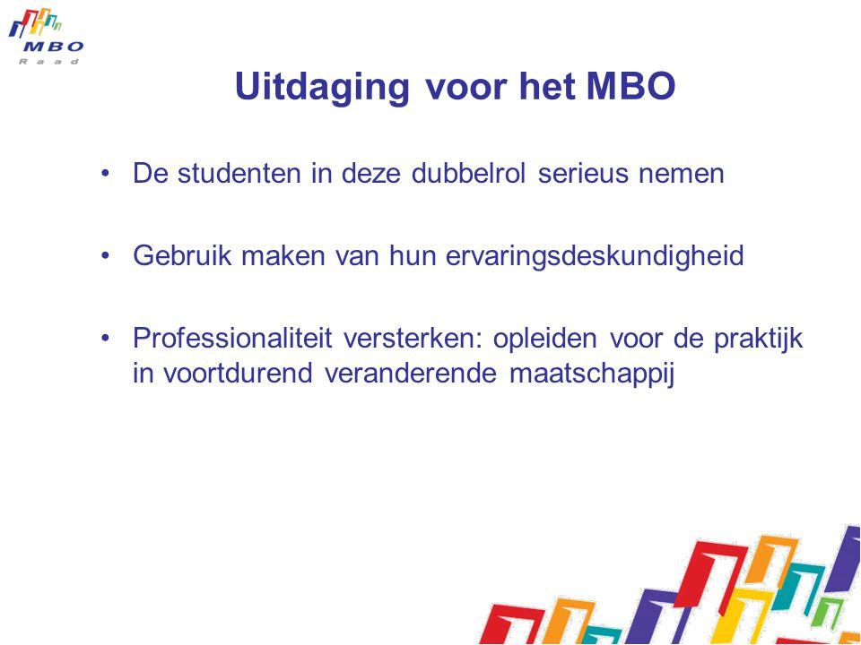 Uitdaging voor het MBO De studenten in deze dubbelrol serieus nemen