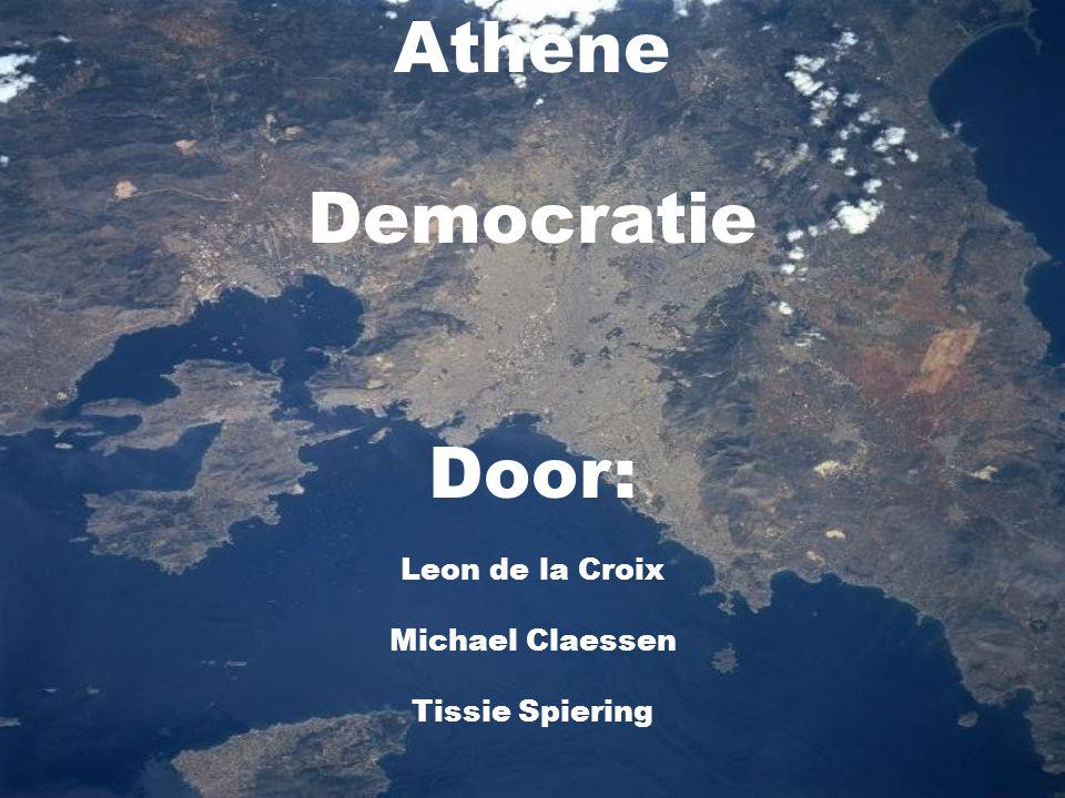 Athene Democratie Door: Leon de la Croix Michael Claessen