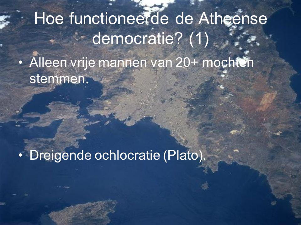 Hoe functioneerde de Atheense democratie (1)