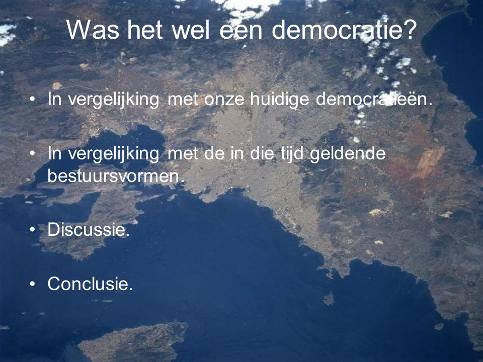 Was het wel een democratie