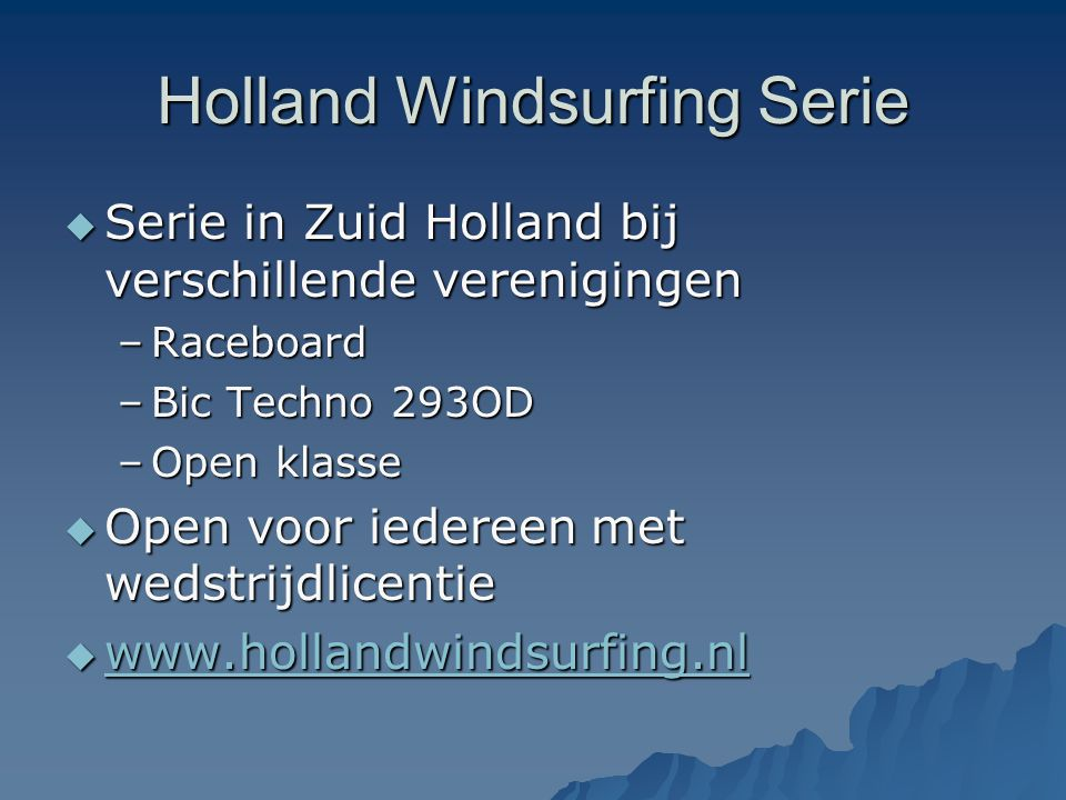 Holland Windsurfing Serie