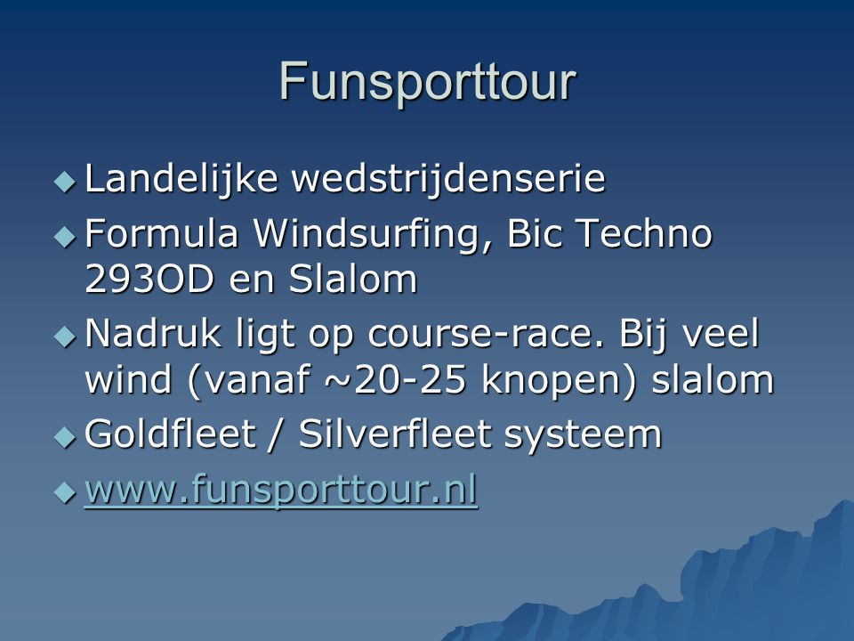 Funsporttour Landelijke wedstrijdenserie