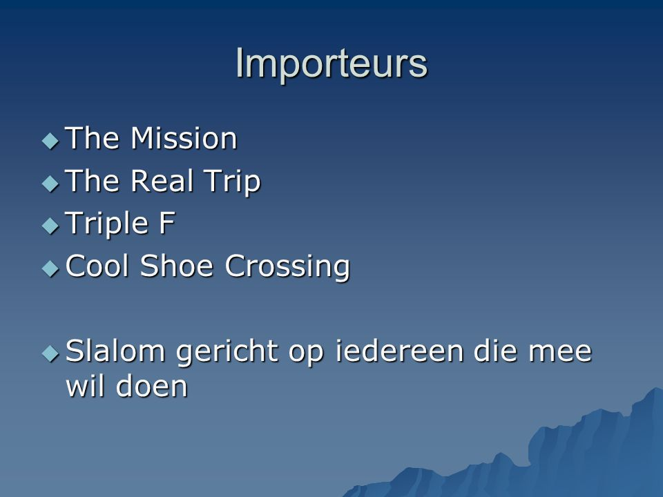 Importeurs The Mission The Real Trip Triple F Cool Shoe Crossing