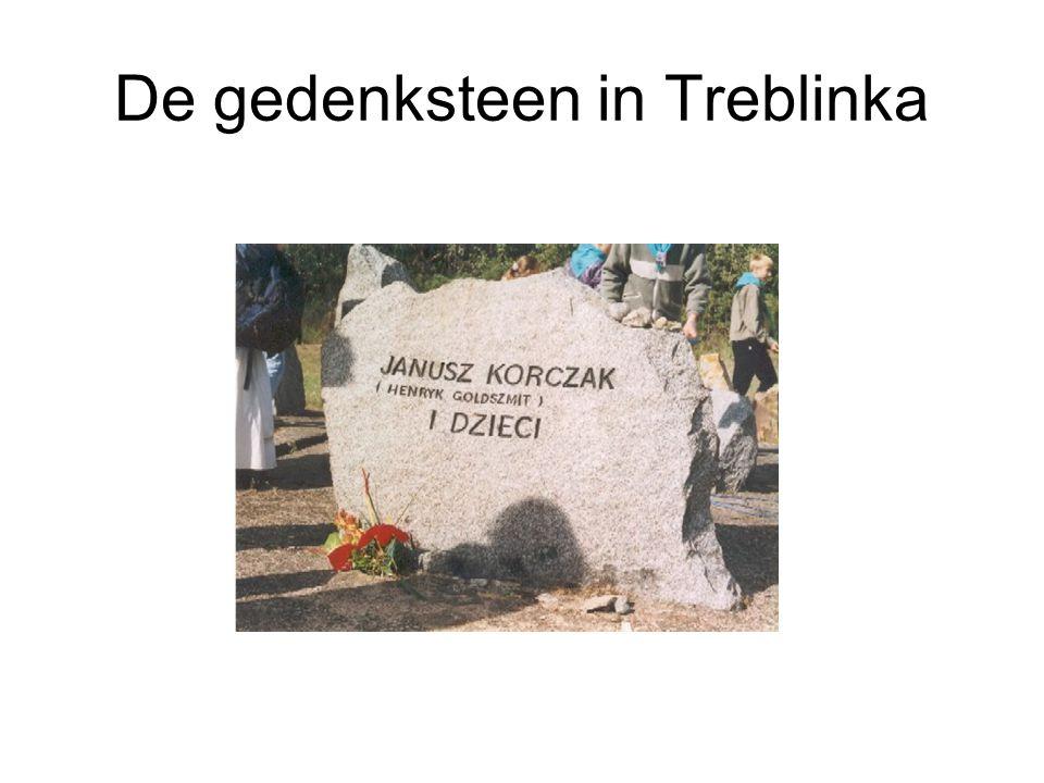 De gedenksteen in Treblinka