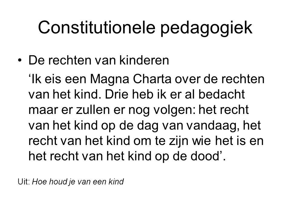Constitutionele pedagogiek