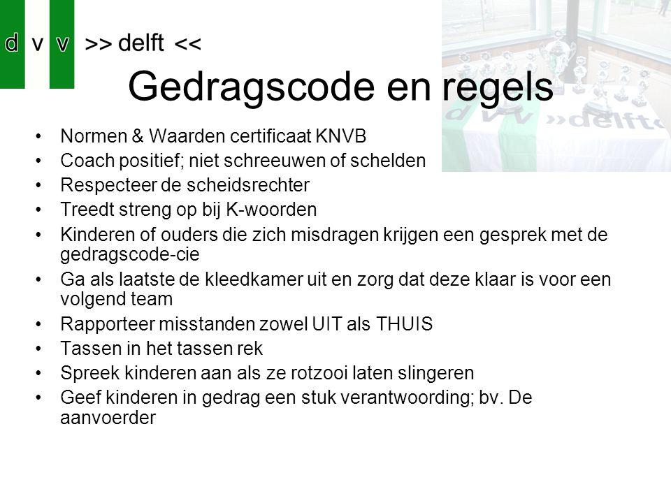 Gedragscode en regels Normen & Waarden certificaat KNVB