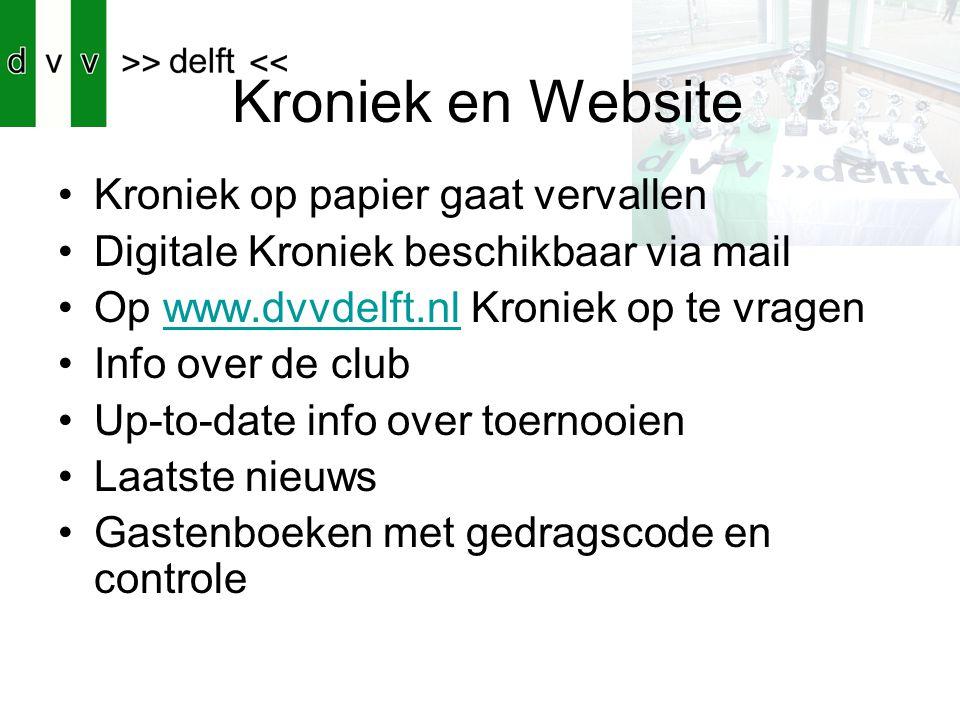 Kroniek en Website Kroniek op papier gaat vervallen