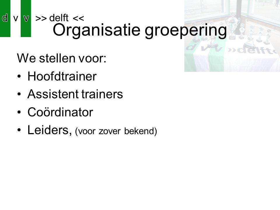 Organisatie groepering