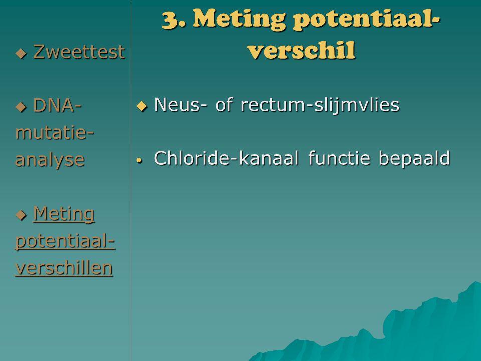 3. Meting potentiaal-verschil