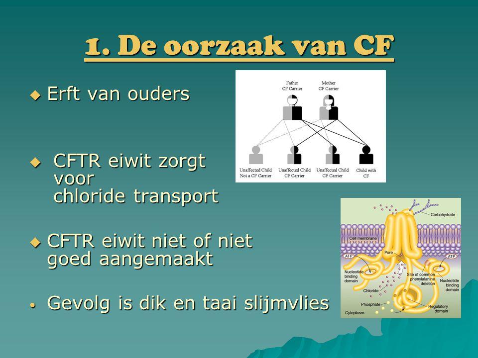 1. De oorzaak van CF Erft van ouders