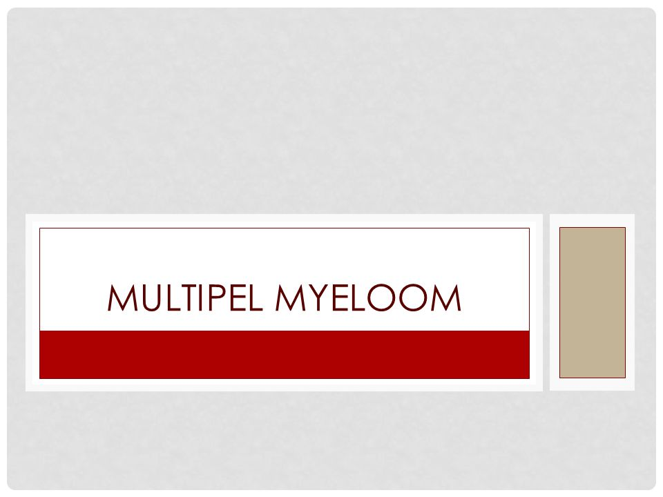 Multipel myeloom