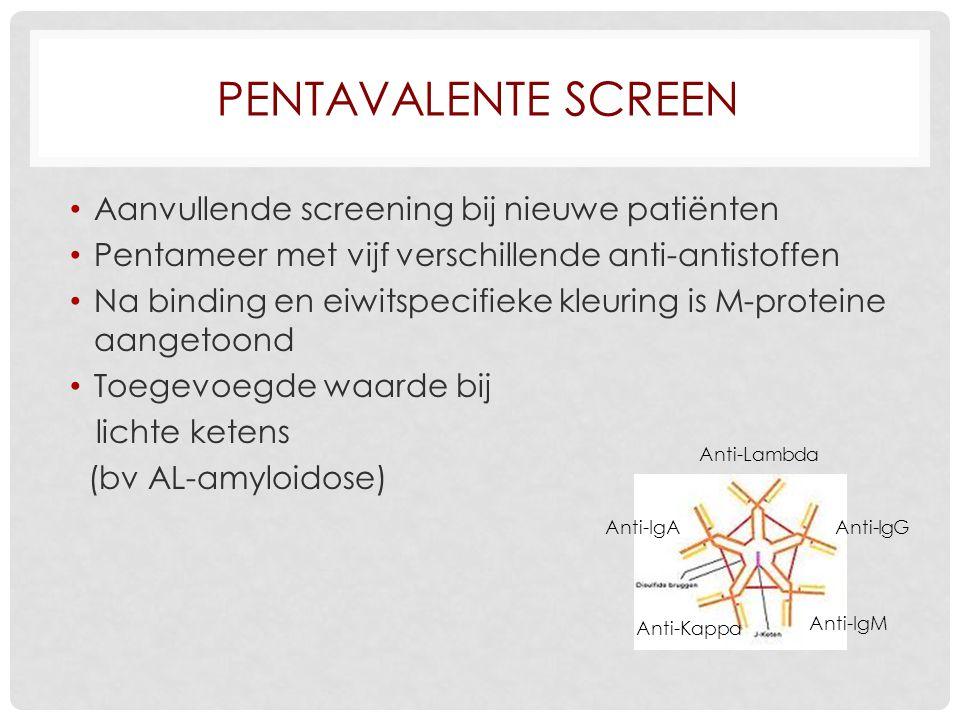 Pentavalente screen Aanvullende screening bij nieuwe patiënten