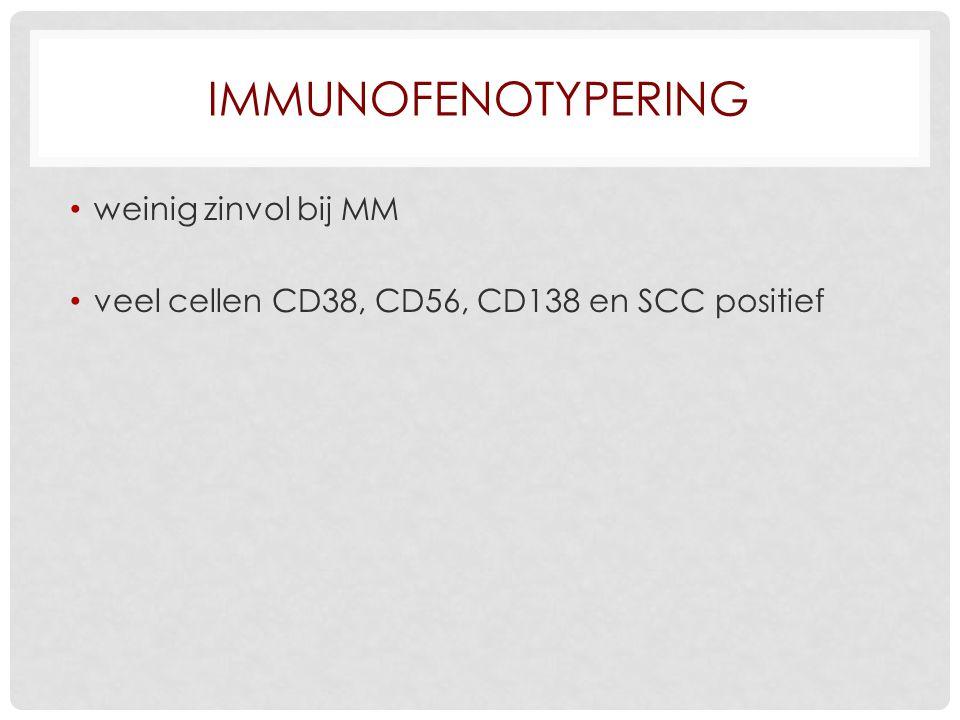 Immunofenotypering weinig zinvol bij MM