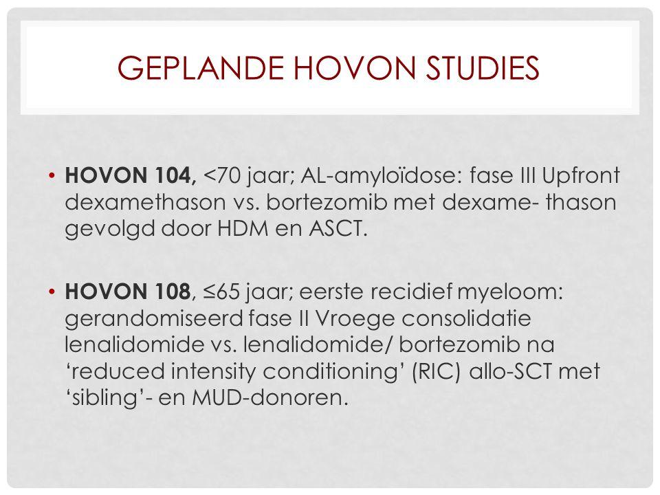 Geplande HOVON studies