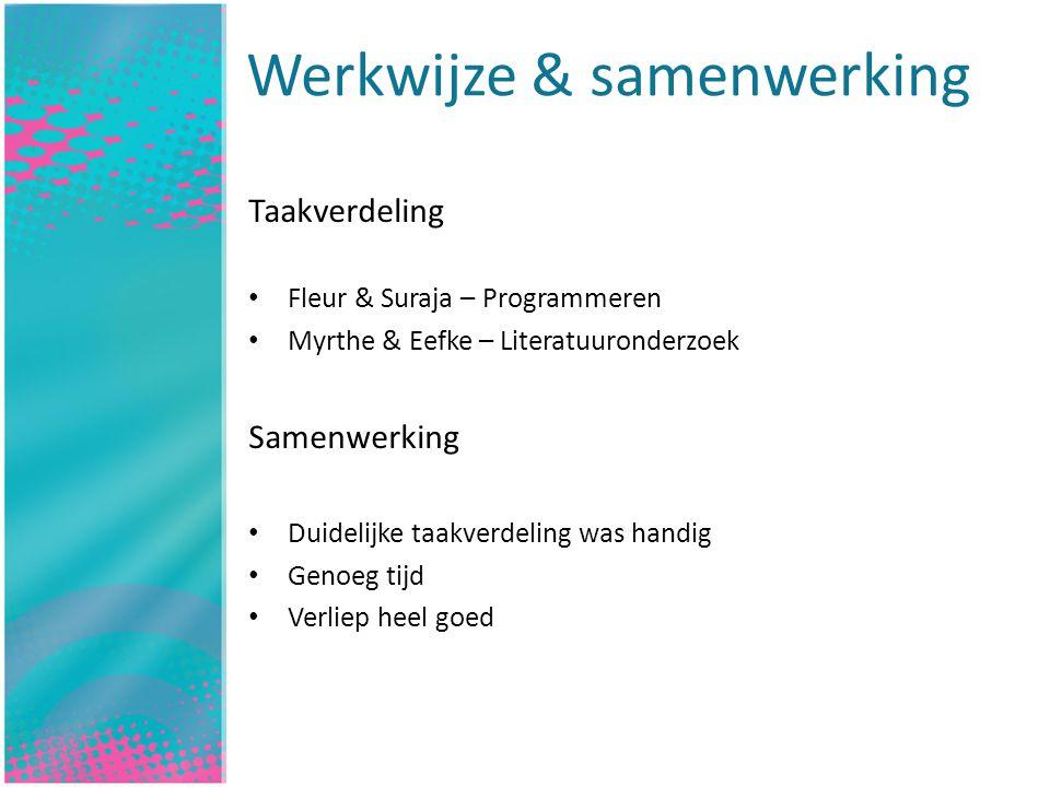 Werkwijze & samenwerking Inleiding
