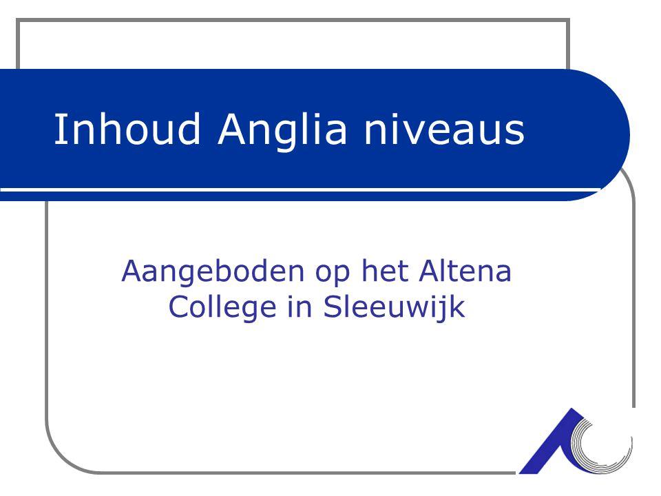 Voorlichting 4 Atheneum Aangeboden op het Altena College in Sleeuwijk
