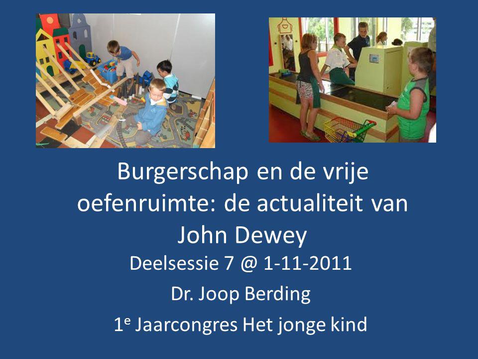 Burgerschap en de vrije oefenruimte: de actualiteit van John Dewey