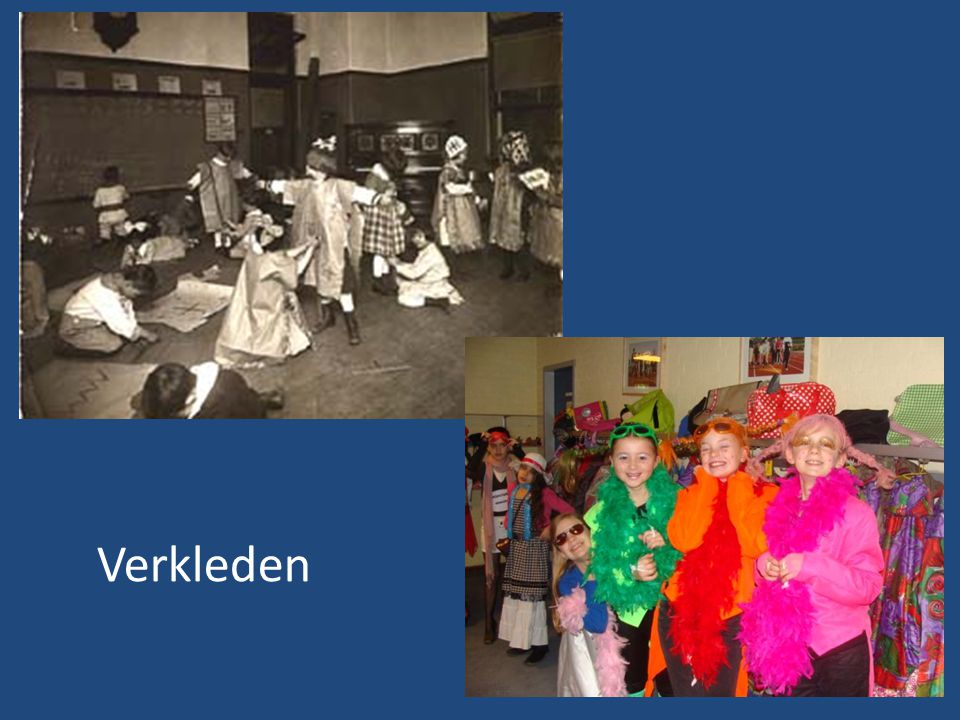 The costumes were for a class play, while students were learning about the clothing and shelter of various cultures