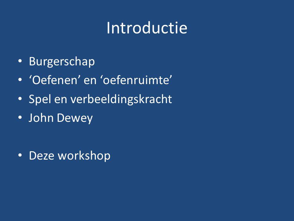 Introductie Burgerschap 'Oefenen' en 'oefenruimte'