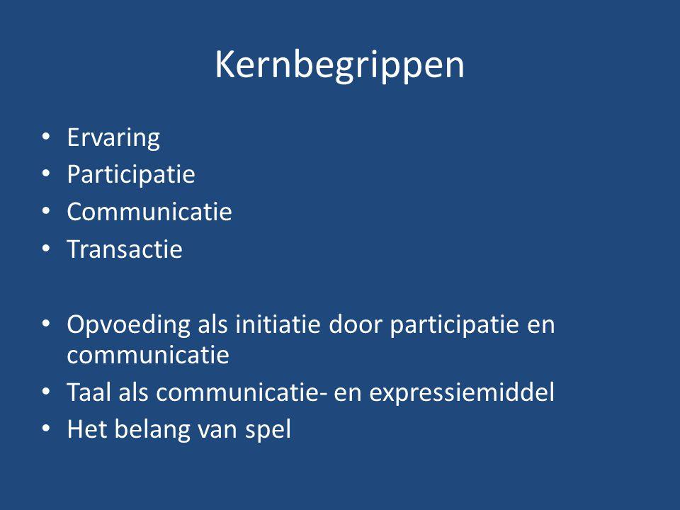 Kernbegrippen Ervaring Participatie Communicatie Transactie