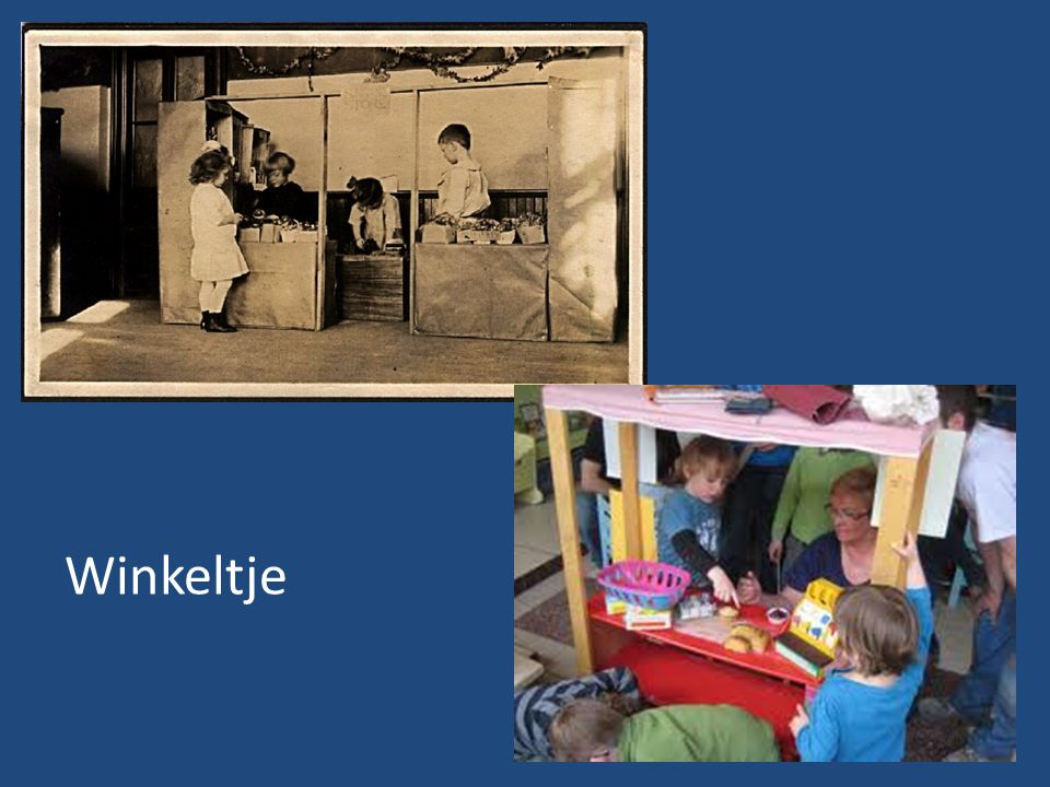 Kindergarten students play in a flexible house