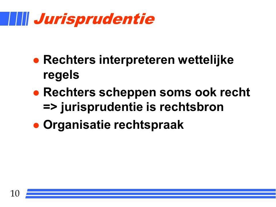Jurisprudentie Rechters interpreteren wettelijke regels