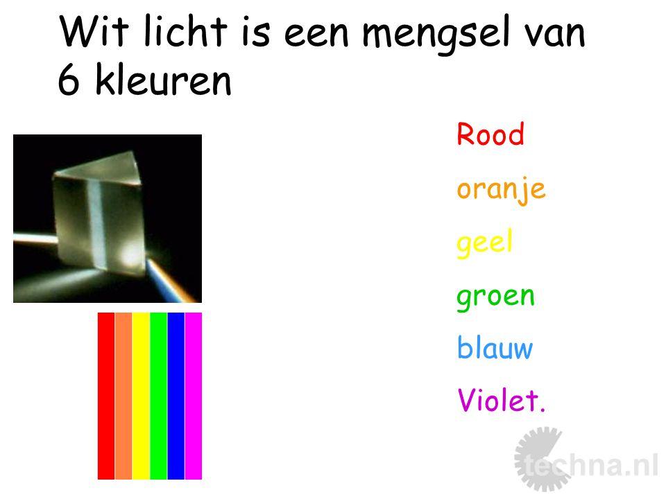 Wit licht is een mengsel van 6 kleuren