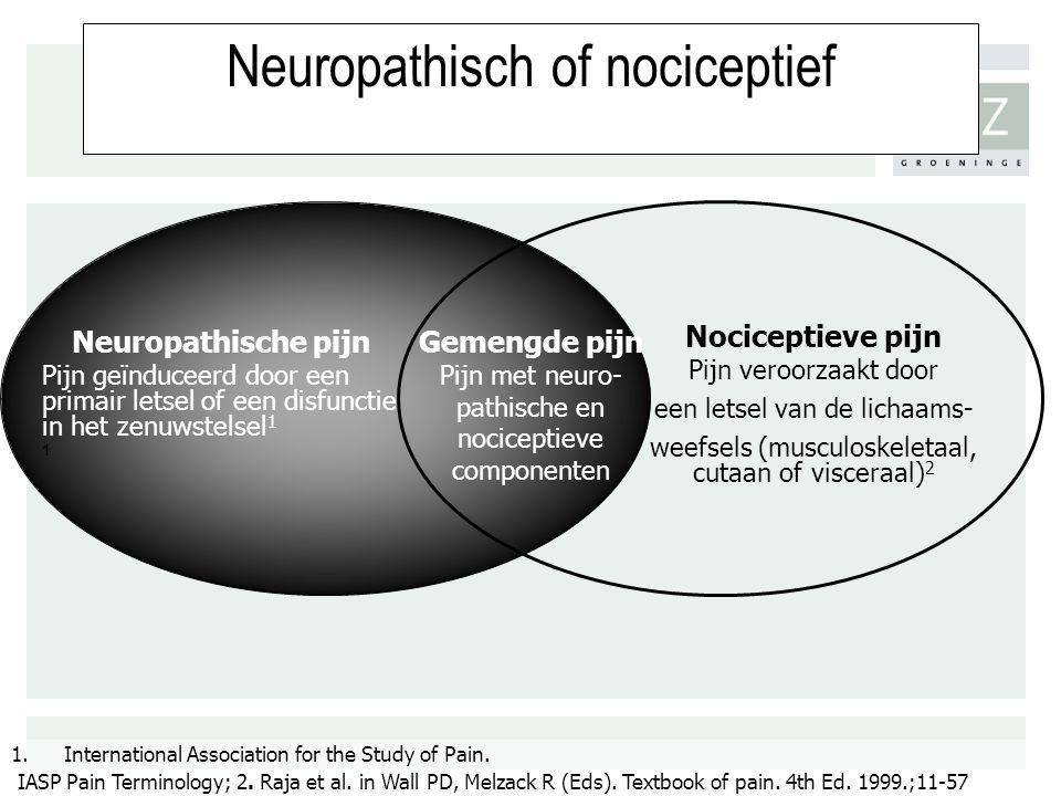 Neuropathisch of nociceptief