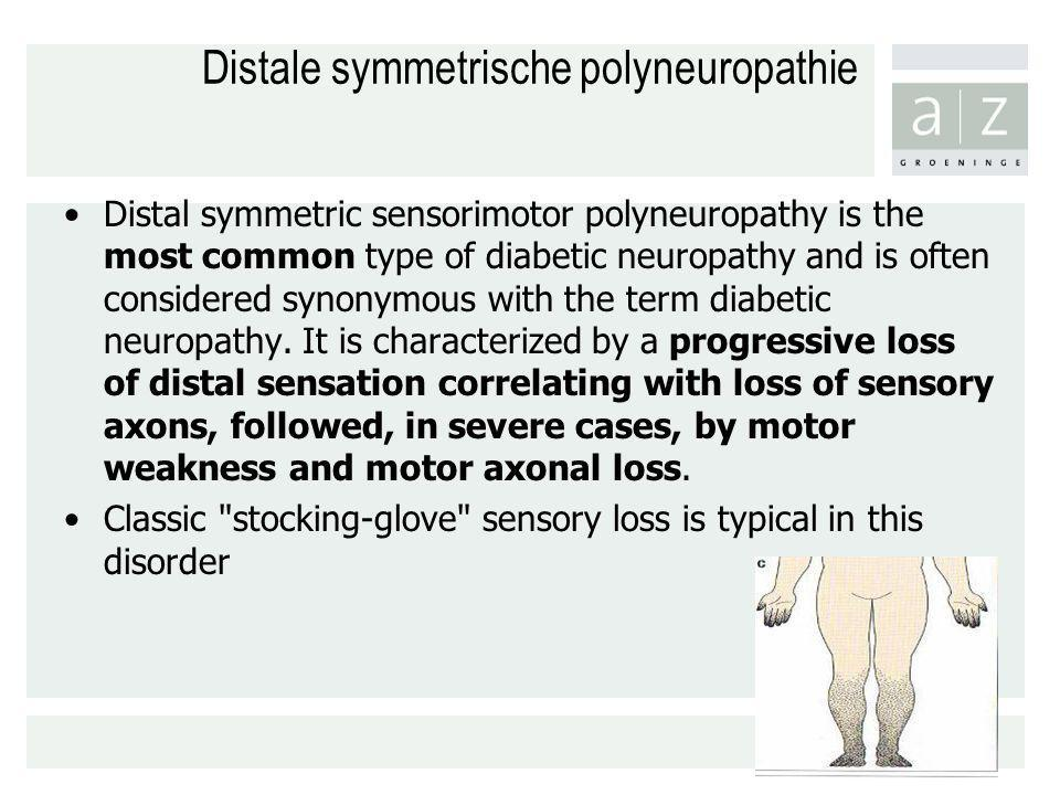Distale symmetrische polyneuropathie