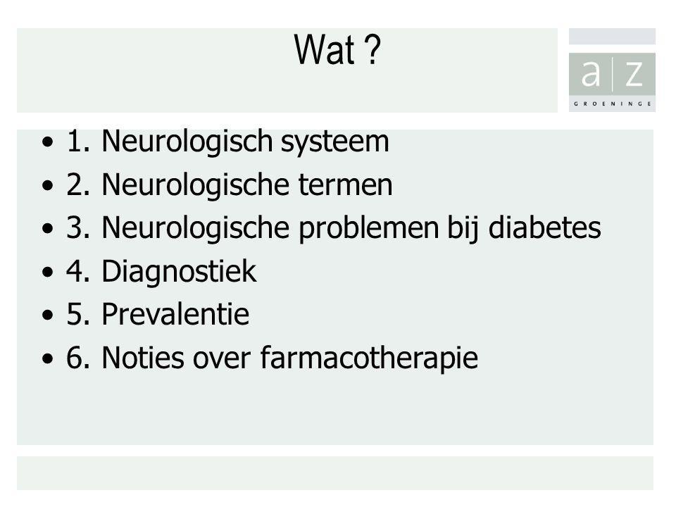 Wat 1. Neurologisch systeem 2. Neurologische termen