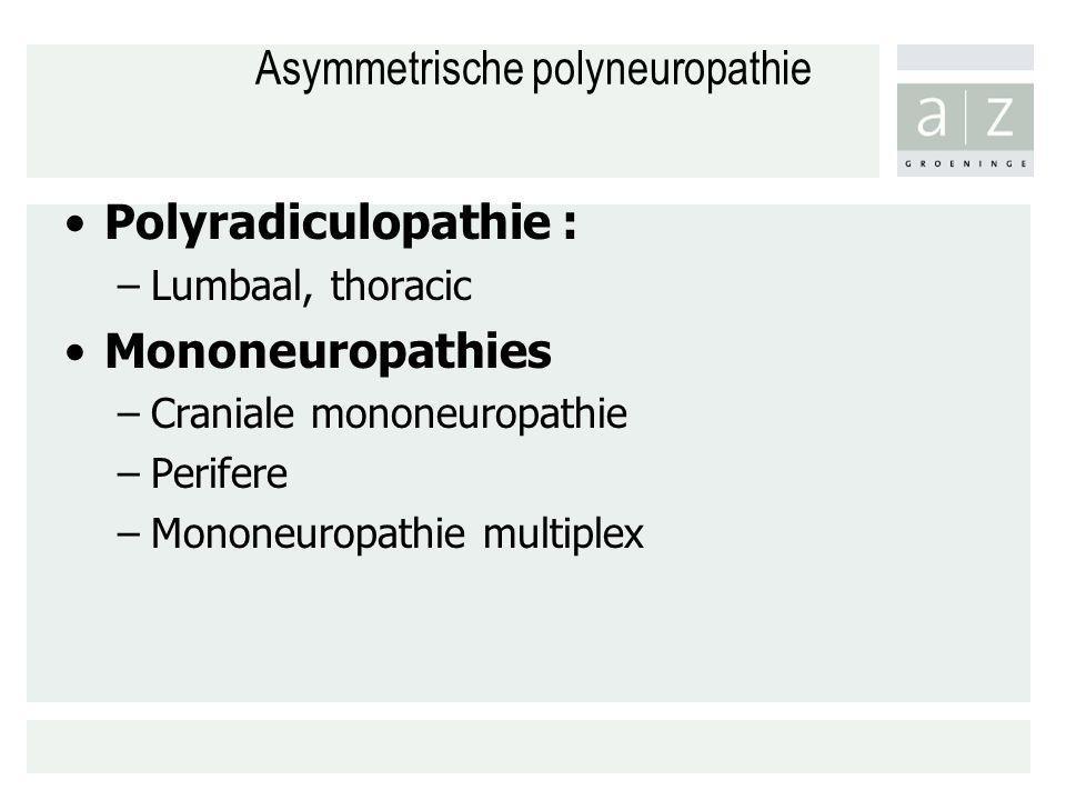 Asymmetrische polyneuropathie