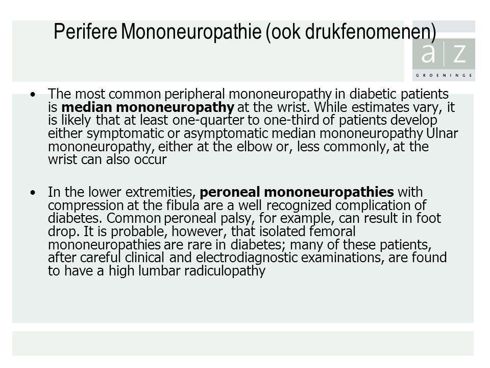 Perifere Mononeuropathie (ook drukfenomenen)