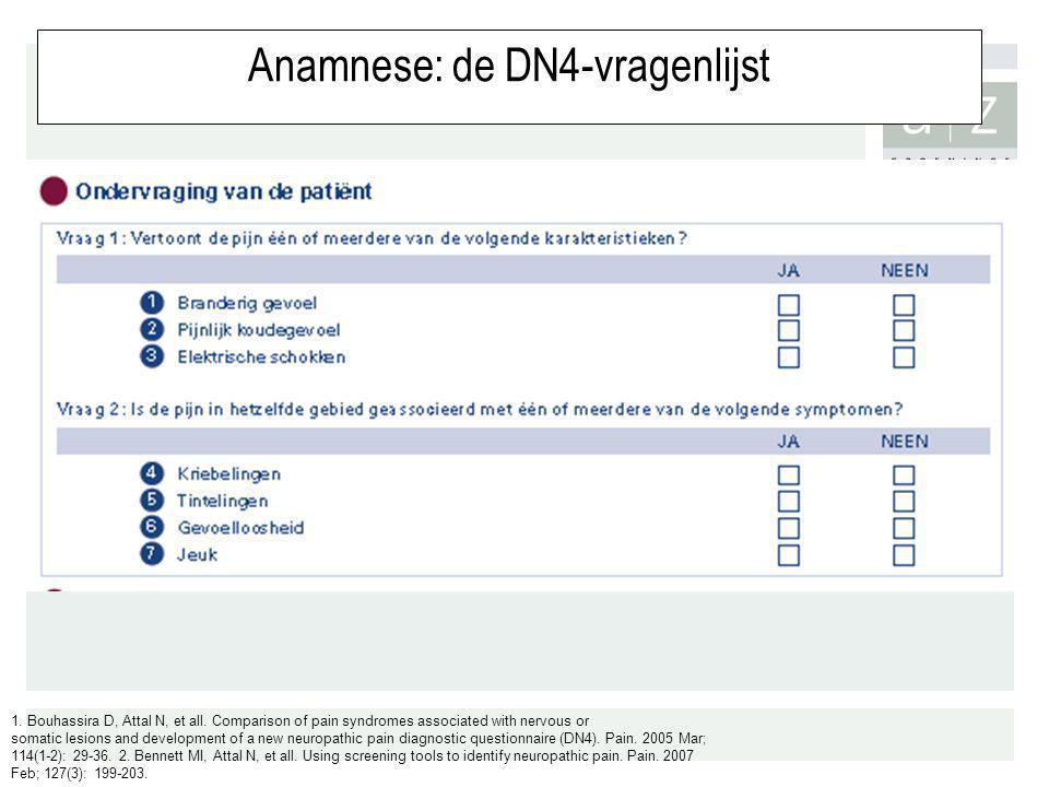Anamnese: de DN4-vragenlijst